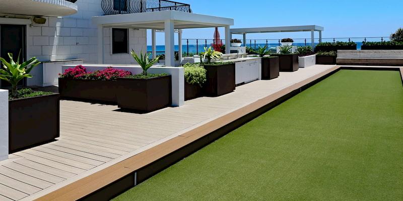 vivejardin piscina Cesped artificial Premium jard/ín valla Altura de 7mm Rollos de 2x25 metros Para terraza perro